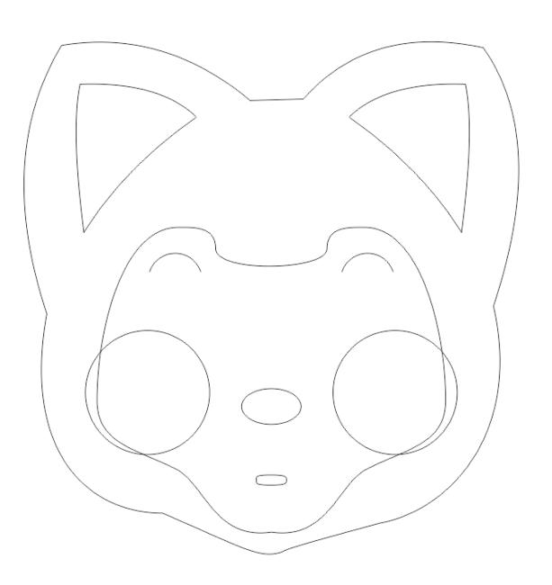 那么接下来就是绘制鼻子啦,还是用我们的椭圆工具,选中工具并拖拉出