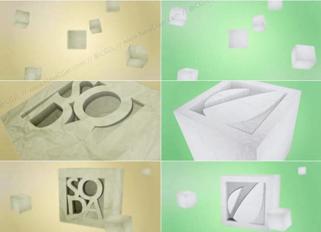 【ae模板】简洁的三维纸雕标志演绎ae工程
