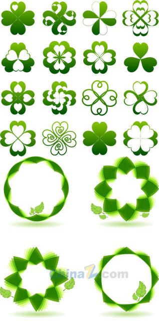 绿色创意图标矢量设计