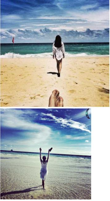 海边闺蜜照相姿势图片