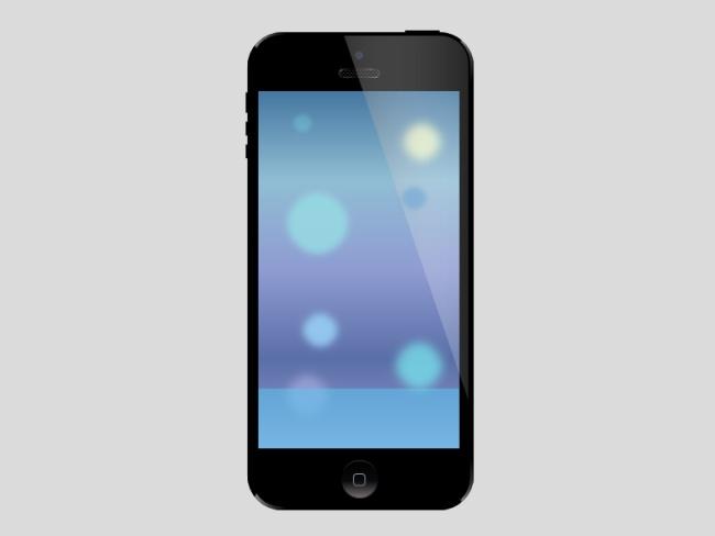苹果手机矢量图ppt用