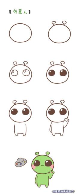 萌萌哒的简笔画小动物你也可以!