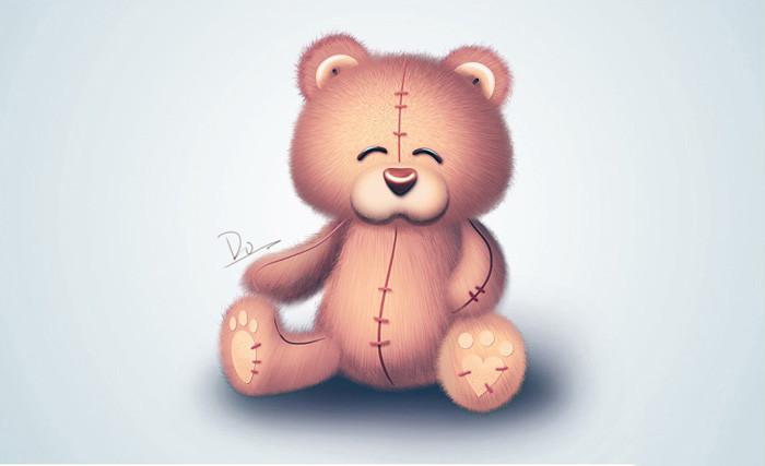 ps_制作漂亮可爱的毛绒小熊玩具图片